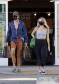 Annabelle Wallis and Chris Pine make a stop top pick up some groceries at Erewhon Natural Foods in Los Angeles