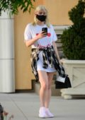 Ariel Winter seen wearing an oversized t-shirt while visiting a laser removal salon in Studio City, California
