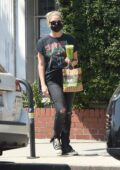 Ashley Benson grabs a healthy juice and food from Kreation in Los Angeles