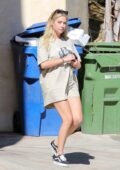 Ashley Benson seen wearing an oversized t-shirt while heading out with G-Eazy in Los Feliz, California