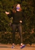 Barbara Palvin seen out celebrating Dylan Sprouse's birthday with friends in West Hollywood, California
