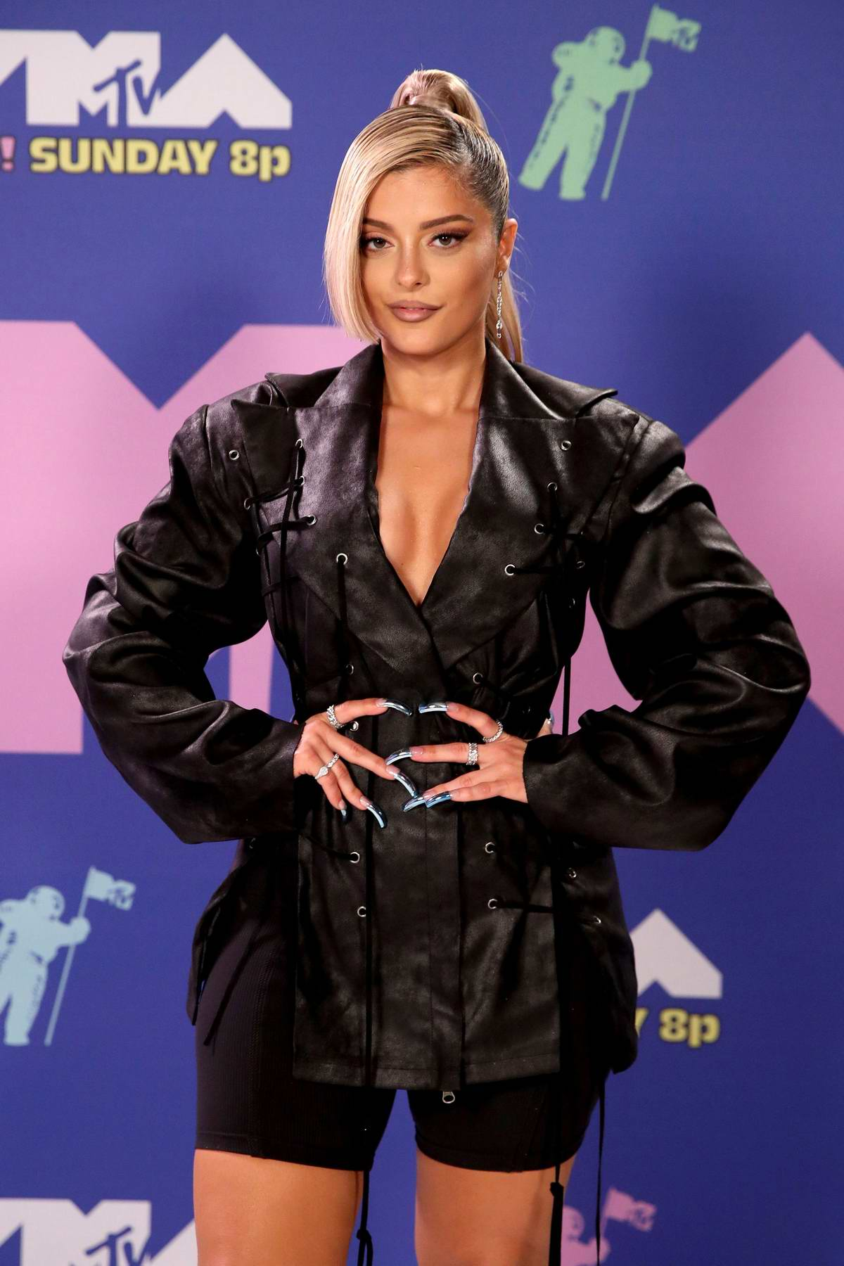 Bebe Rexha attends the 2020 MTV Video Music Awards in New York City