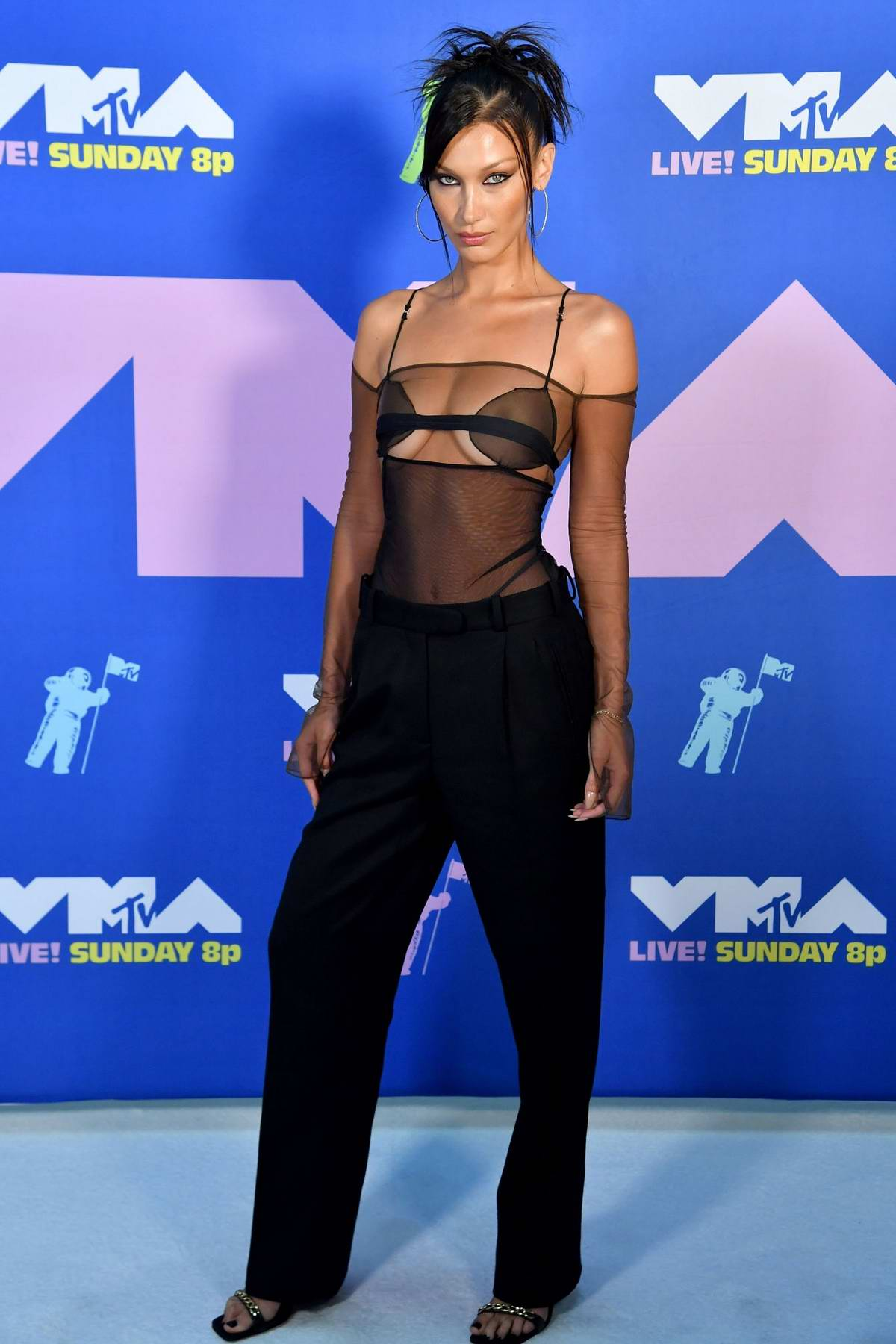 Bella Hadid attends the 2020 MTV Video Music Awards in New York City