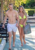 Bianca Gascoigne spotted in a yellow bikini during her vacation with Kris Boyson in Croatia