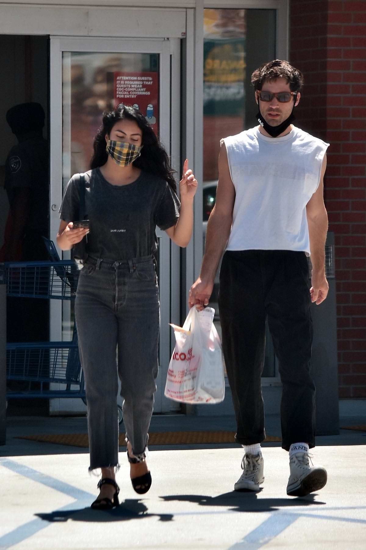 Camila Mendes keeps it casual while running errands with boyfriend Grayson Vaughan in Los Angeles
