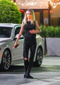 Cara Delevingne enjoys a sushi dinner with friends in Los Angeles