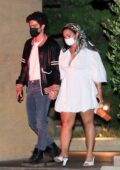 Demi Lovato and Max Ehrich hold hands while out for a date night at Nobu in Malibu, California
