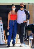 Dua Lipa and Anwar Hadid seen leaving after a lunch date at Nobu in Malibu, California