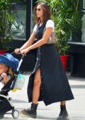 Irina Shayk looks chic as she steps out for stroll with her daughter in New York City