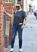 Jennifer Garner keeps it casual while making a quick stop by her office in Brentwood, California