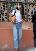 Jordana Brewster takes her son to summer camp in Los Angeles