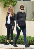 Katherine Schwarzenegger enjoys her daily walk with her mom Maria Shriver in Brentwood, California