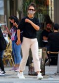Katie Holmes swaps her sunglasses and sandals during her 2 hour walk in New York City