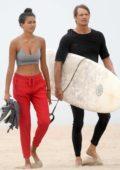 Kelly Gale and Joel Kinnaman hit the beach in Santa Monica, California