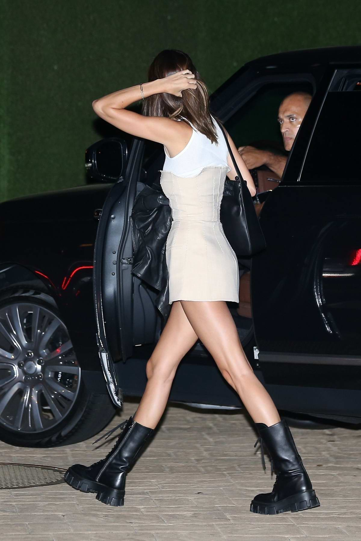Kendall Jenner seen arriving for a late dinner at Nobu in Malibu, California
