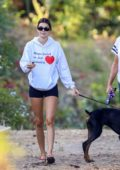 Kendall Jenner shows off her toned legs while out on a hike with Caitlyn Jenner in Malibu, California