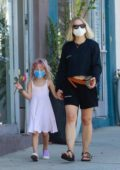 Kristen Bell picks up ice cream with her daughter at Jeni's Splendid Ice Creams in Los Feliz, California