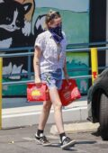 Kristen Stewart goes shopping for pet supplies with girlfriend Dylan Meyer at For Pets Only in Los Feliz, California
