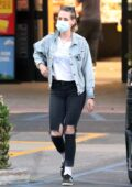 Kristen Stewart spotted during a shopping outing with girlfriend Dylan Meyer at Ralph's in Malibu, California