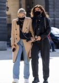 Kylie Jenner seen visiting the Louvre museum with friends in Paris, France