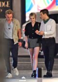 Lucy Boynton, Rami Malek and Ben Hardy seen leaving a restaurant during a night out in London, UK