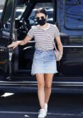 Lucy Hale displays her legs while making a trip to her dentist and later stops to pick up lunch in Los Angeles