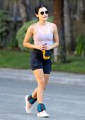 Lucy Hale goes on an afternoon hike with a friend at Fryman Canyon in Los Angeles