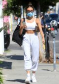 Madison Beer displays her tiny waist while out shopping on Melrose Place in West Hollywood, California