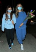 Madison Beer keeps it casual for late night dinner with a friend in West Hollywood, California