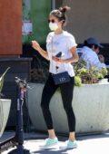 Nina Dobrev grabs a veggie smoothie at Erewhon Market in Los Angeles