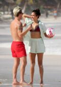 Nina Dobrev spotted in a bikini while packing on some PDA with beau Shaun White during downtime with friends in Tulum, Mexico