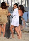 Olivia Culpo celebrates her best friend Cara Santana's birthday at the beach in Malibu, California
