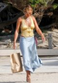 Rita Ora and Kate Moss meet for lunch during while on their vacation in Ibiza, Spain