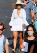 Rita Ora looks great in a white mini dress while enjoying some downtime in Capri, Italy