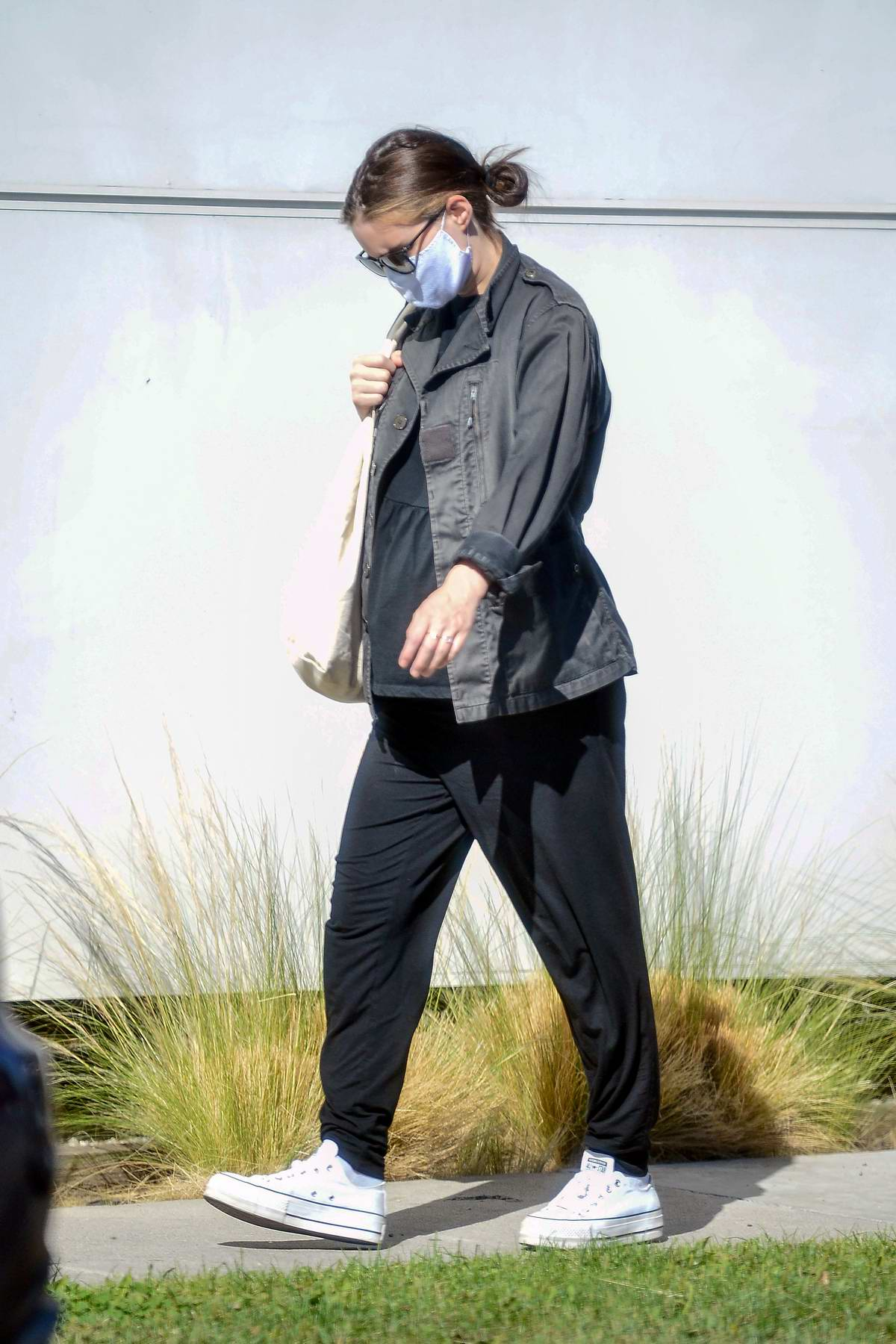 Rooney Mara shows off her growing baby bump while out for her doctor's appointment in Los Angeles