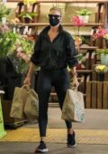 Rosie Huntington-Whiteley dons all-black during a grocery run at Whole Foods in Los Angeles