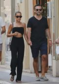 Sylvie Meis and Niclas Castello step out for some shopping in Saint-Tropez, France