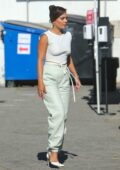 Vanessa Hudgens spotted on a set as she gets back to work filming in Los Angeles