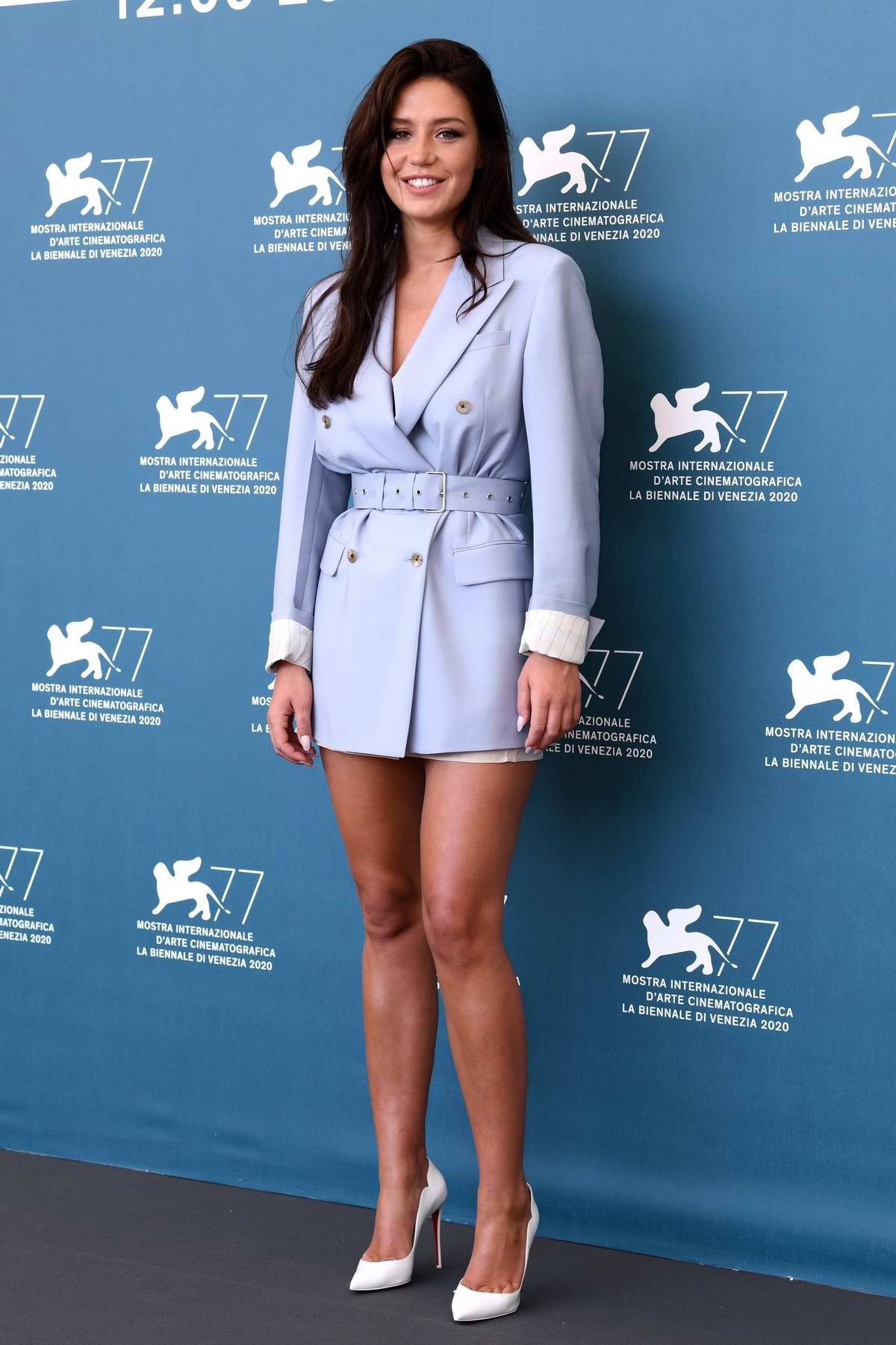 Adèle Exarchopoulos attends 'Mandibules' Photocall during the 77th Venice Film Festival in Venice, Italy