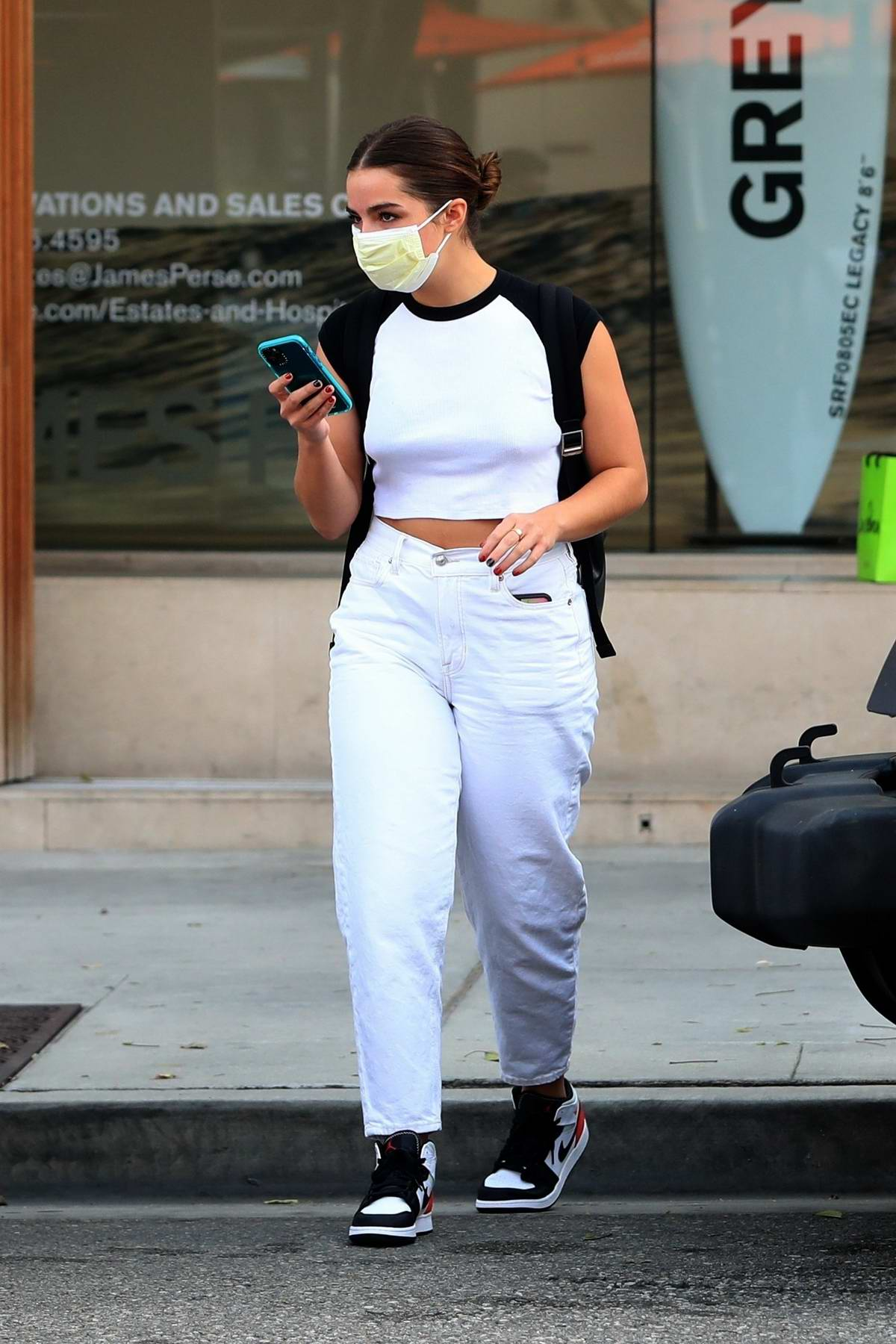 Addison Rae returns to her custom Jeep Wrangler as she leaves a dermatologist in Beverly Hill, California