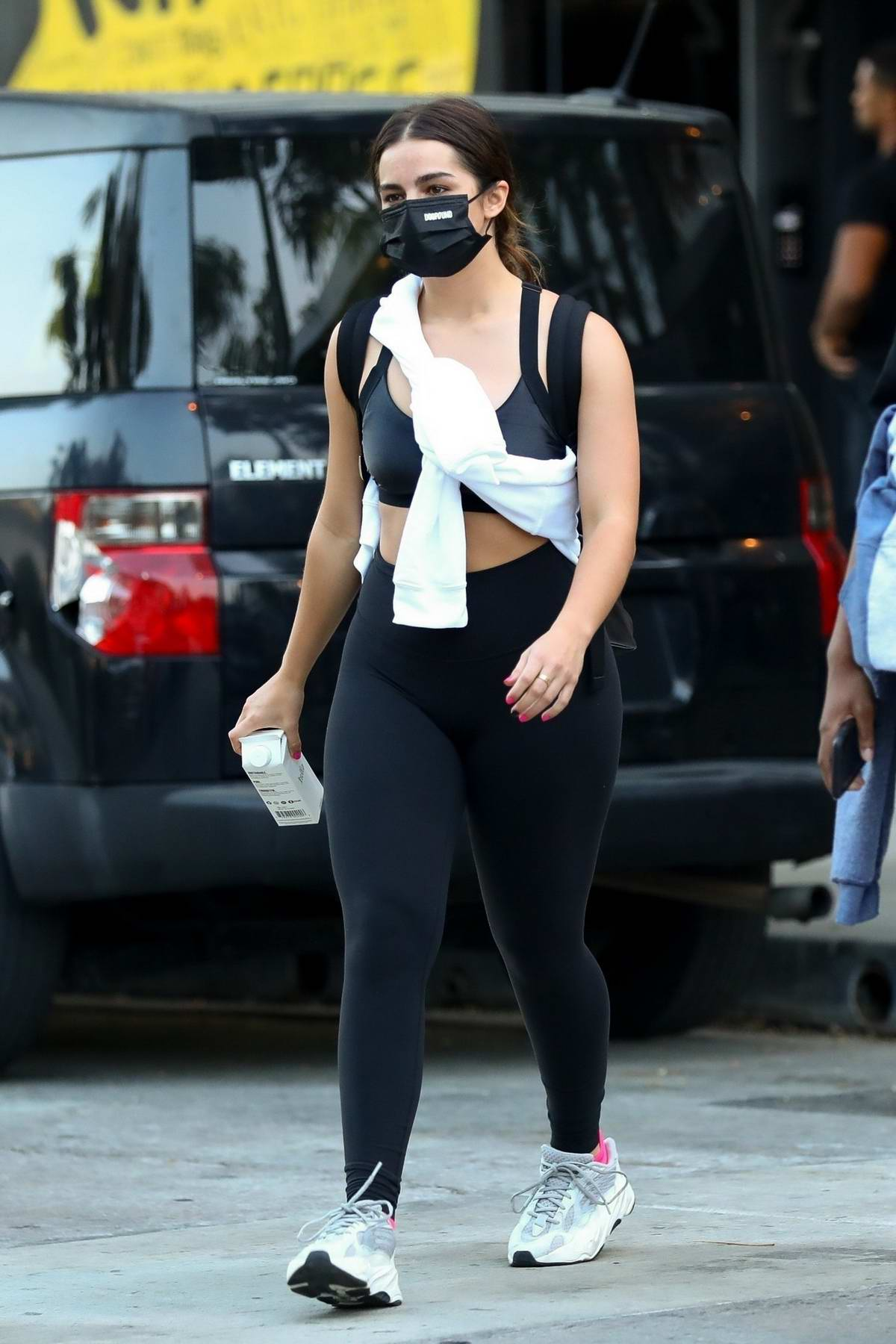 Addison Rae seen leaving after a workout session at Dogpound in West Hollywood, California