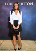 Alicia Vikander attends the Louis Vuitton Stellar Jewelry Cocktail Event at Place Vendome in Paris, France