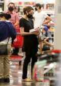 Angelina Jolie stops at Target to do some shopping with her kids in West Hollywood, California