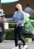 Ariel Winter sports a grey sweatshirt and black leggings while stocking up on groceries in Los Angeles