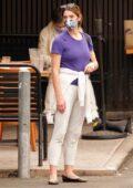Ashley Greene seen leaving a sushi restaurant in Studio City, California
