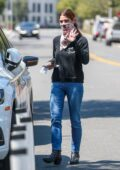 Ashley Greene waves for the camera while running a few errands in Beverly Hills, California