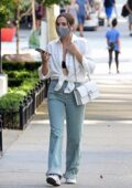 Bailee Madison chats on her phone while out in Los Angeles