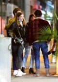 Barbara Palvin and Dylan Sprouse enjoy a night out with friends at The Tyger in SoHo, New York City