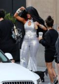 Bebe Rexha, Doja Cat and Nikita Dragun spotted during a new music video shoot in Los Angeles