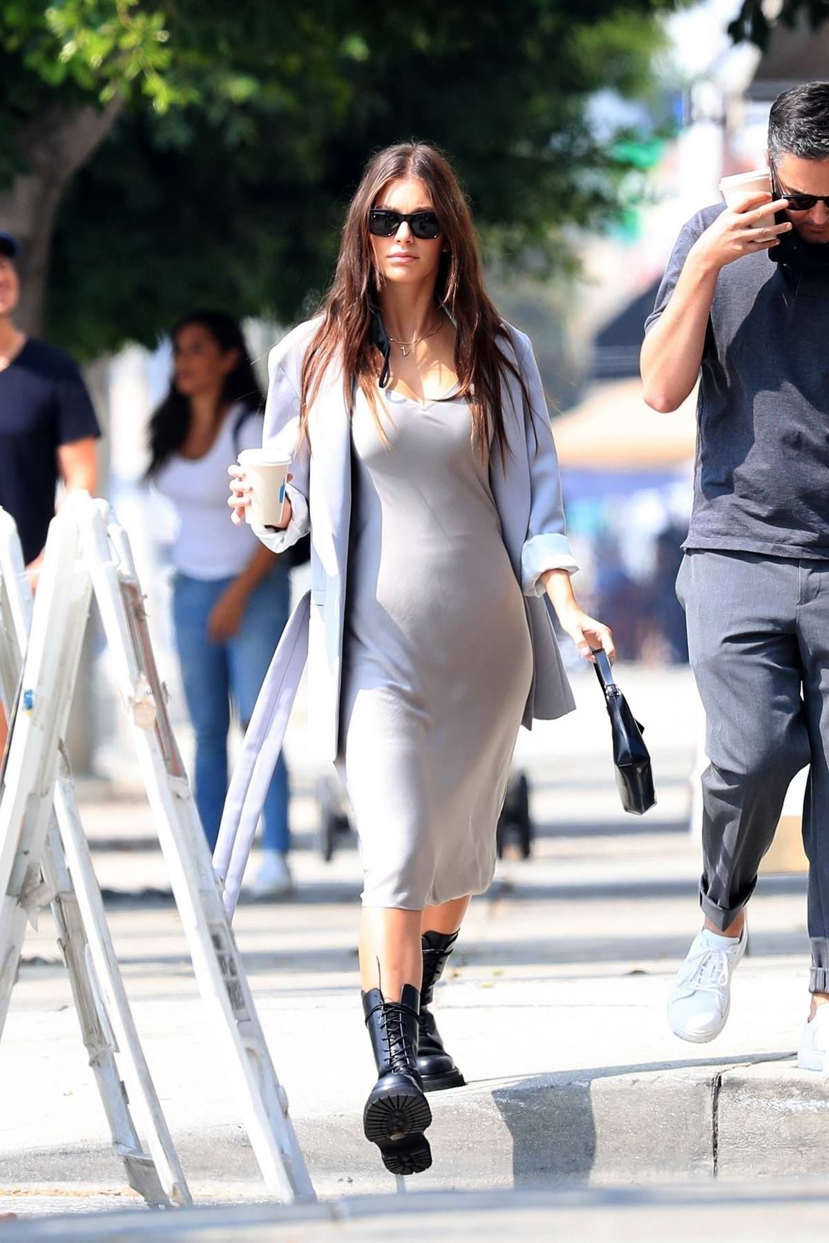 Camila Morrone looks chic while out for some coffee with her stylist in West Hollywood, California